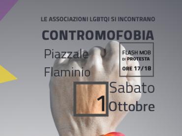 ContrOmofobia, flashMob delle Associazioni LGBT a Piazzale Flaminio – sabato ore 17