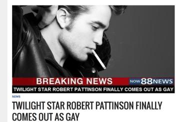 Robert Pattinson fa coming out (ma è una notizia farlocca)