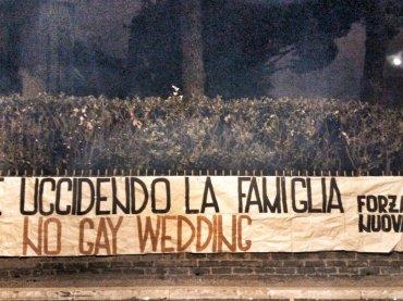Gay Wedding, Forza Nuova attacca la  prima manifestazione romana dedicata alle Unioni Civili