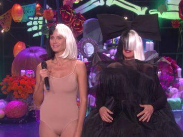 Halloween Vip 2016, Heidi Klum e Ellen DeGeneres  diventano Maddie Ziegler e Sia – video