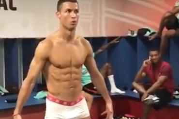 Cristiano Ronaldo freezato in mutande nello spogliatoio del Portogallo – foto