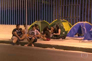 Fan brasiliani di Justin Bieber in fila 5 mesi prima del concerto