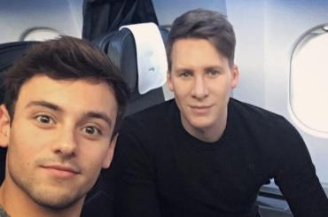 Tom Daley e Dustin Lance Black sono a Roma per l'anteprima mondiale di When We Rise, foto