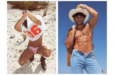 Daniel Garofali show in spiaggia per TOH Magazine, foto