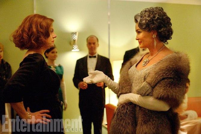 FEUD  2017 (l-r) Susan Sarandon as Bette Davis, Jessica Lange as Joan Crawford