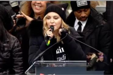 Madonna in marcia contro Donald Trump: il discorso – video