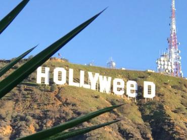 La scritta  Hollywood diventa Hollyweed – nella notte lo scherzo del 2017