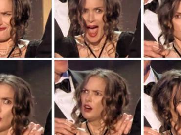 SAG Awards 2017, Winona Ryder diventa un meme vivente sul palco – il video con le sue folli facce