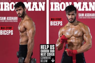Sam Asghari, il fidanzato di Britney Spears gnocco su Iron Man Magazine