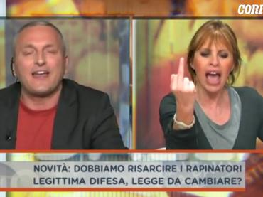 'Suo marito va con le 15enni', e la Mussolini sbrocca: 'fai schifo, brutto stron*o, vaffan*clo' – video