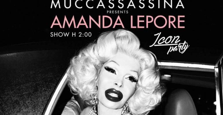 Amanda Lepore a Muccassassina il 7 aprile