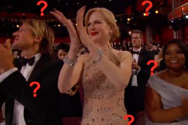 Oscar  2017, Nicole Kidman e il mistero dell'applauso alieno – gif