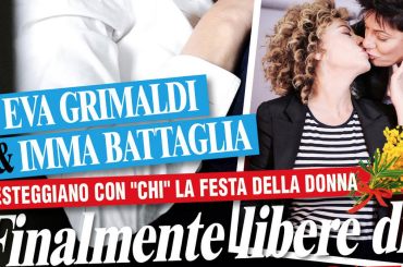 Eva Gimaldi e Imma Battaglia, su CHI la prima copertina di coppia: 'finalmente libere di amarci'