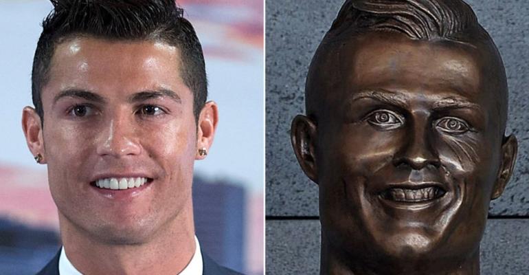 Cristiano Ronaldo, il busto realizzato in suo onore è uno sgorbio senza fine – foto