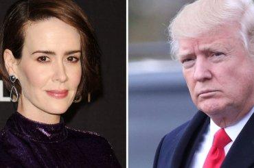 American Horror Story 7, Sarah Paulson  VUOLE interpretare Donald Trump