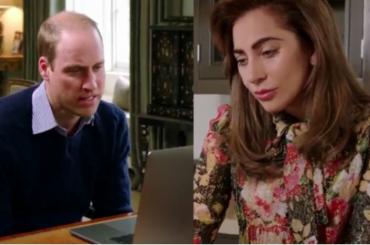 Heads Together, Lady Gaga in videochiamata con il Principe William parla di salute mentale – video