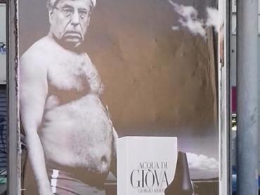 Acqua di Giova(nardi), a Torino è tornato il geniale provocatore pubblicitario
