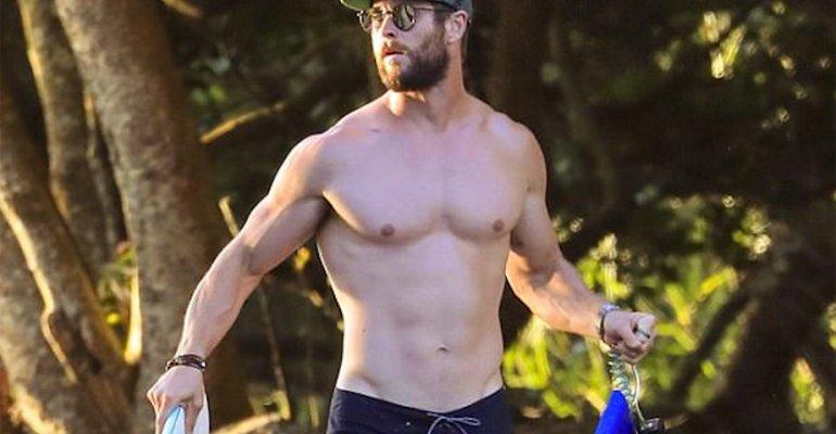 Chris Hemsworth, Thor in costume in Australia – foto