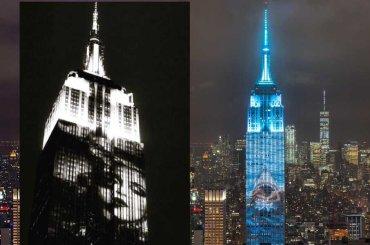 Madonna, Rihanna, Lady Gaga sull'Empire State Building per i 150 anni di Harper's Bazaar – foto e video