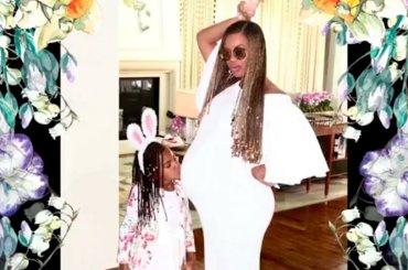 Beyoncé, Pasqua in famiglia con panza – le foto in video