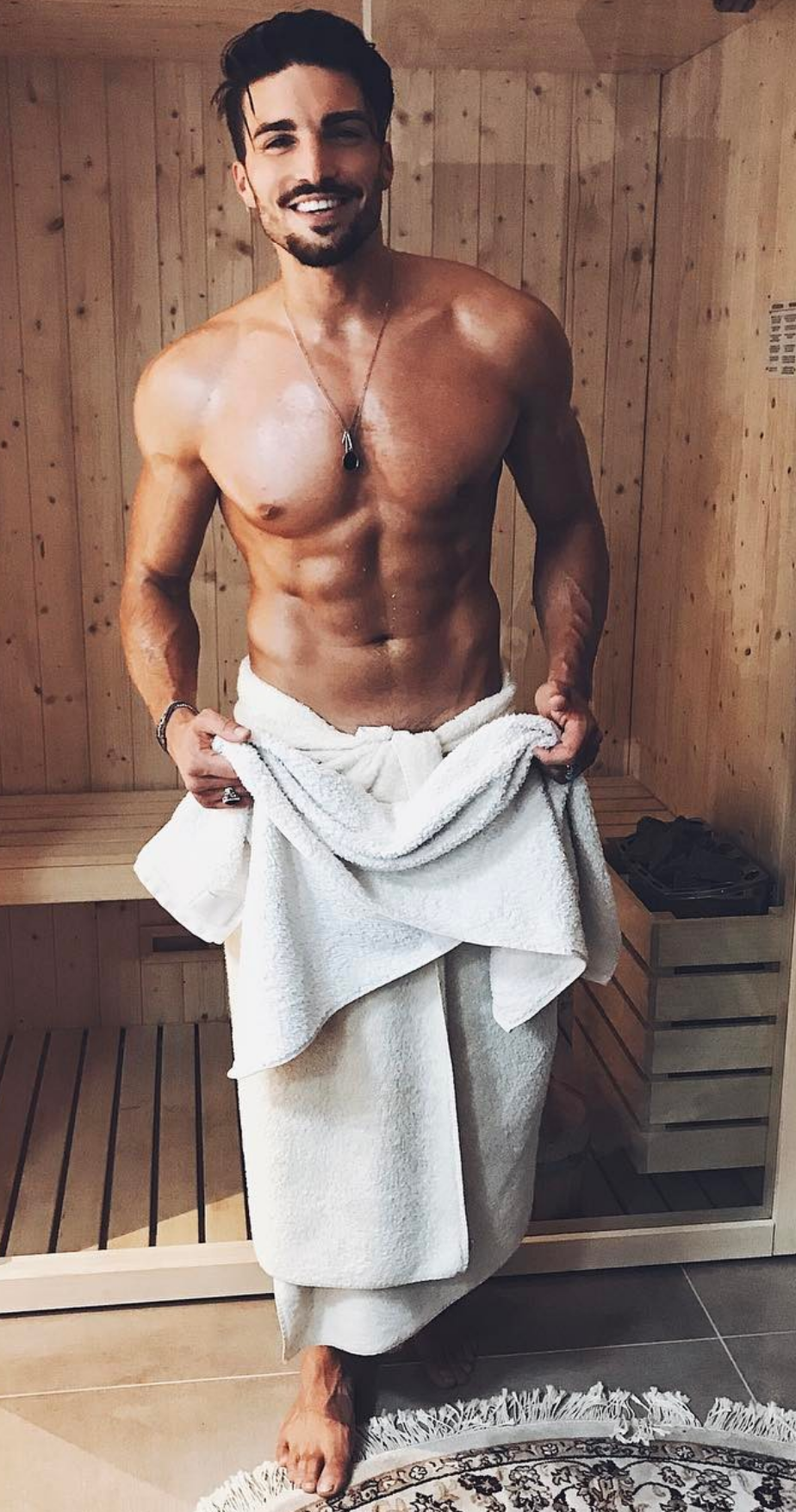 Grande cazzo asciugamano