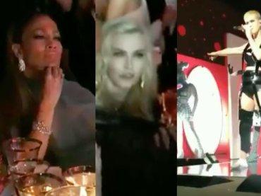 "Madonna e J Lo assistono perplesse al live di ""Bon Appétit"" di Katy Perry al MET GALA 2017 – video"