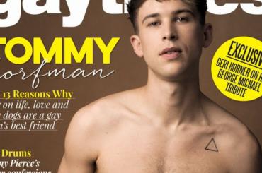 Tredici, Tommy Dorfman gnocco sulla cover di GayTimes – foto