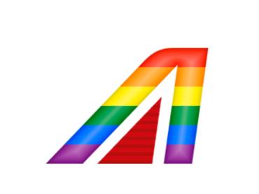 Alitalia diventa rainbow per celebrare il PRIDE
