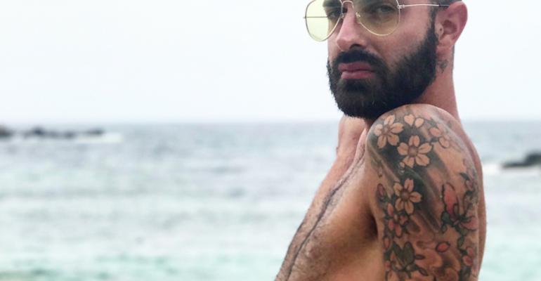 Maicol Berti ️️️️️️️️️del Grande Fratello 10 nudo su Instagram, la foto