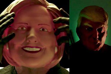 American Horror Story: Cult, i titoli di testa con Donald Trump e Hillary Clinton – video