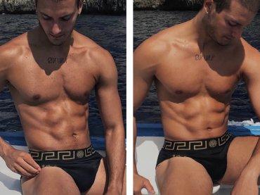 Gabriele Esposito, e' slippino con pacco Instagram – foto