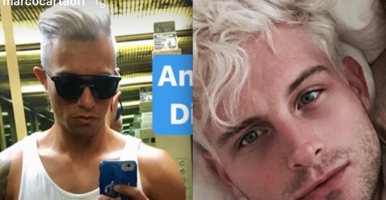 Nico Tortorella si è fatto i capelli di Marco Carta, le foto