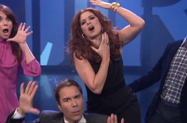 Will & Grace, il cast 'canta' la sigla da Jimmy Fallon – video