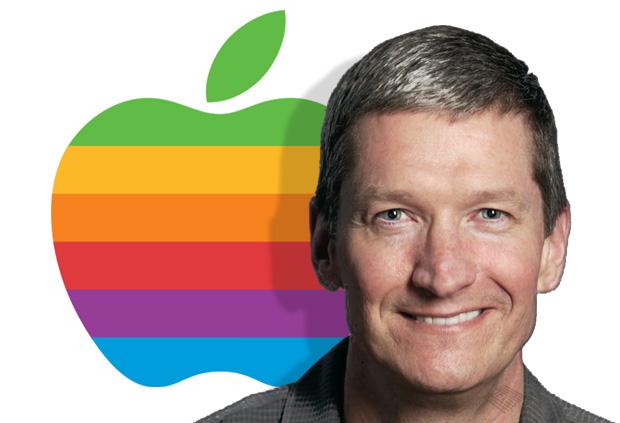 Tim-Cook-with-Rainbow-Apple-Logo