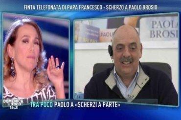 Paolo Brosio contro le unioni civili a Domenica Live, Barbara D'Urso sbrocca e manda la pubblicità