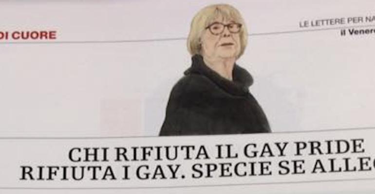 Natalia Aspesi, 'chi rifiuta il gay pride rifiuta i gay, non capisco perché l'omosessualità crei ancora problemi'