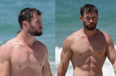 Chris Hemsworth divinità in costume da bagno – le foto dall'Australia