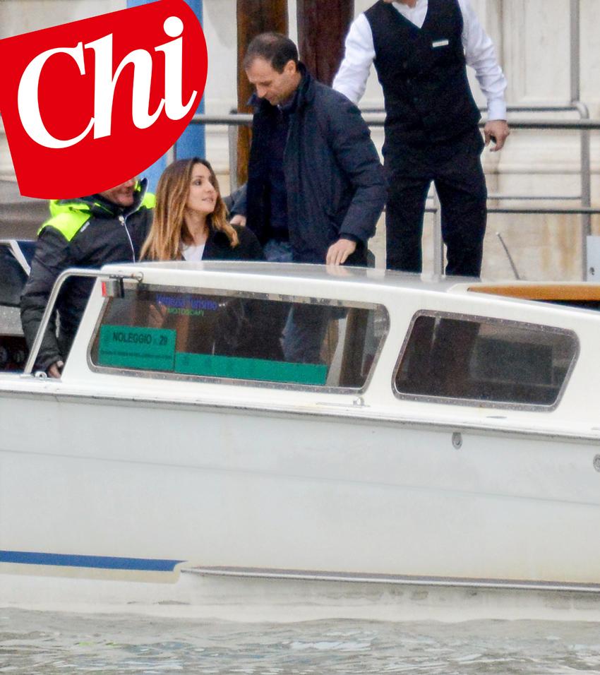 ****ESCLUSIVO**** Ambra Angiolini e Massimiliano Allegri fuga d'amore a Venezia.