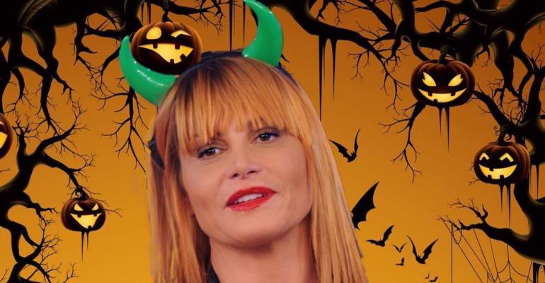 Halloween Vip 2017, Simona Ventura è Malefica – foto