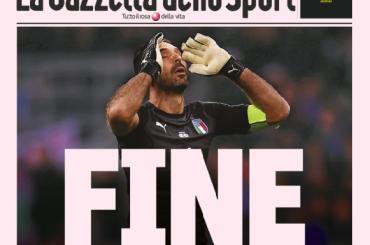 Italia fuori dal Mondiale, le prime pagine dei giornali