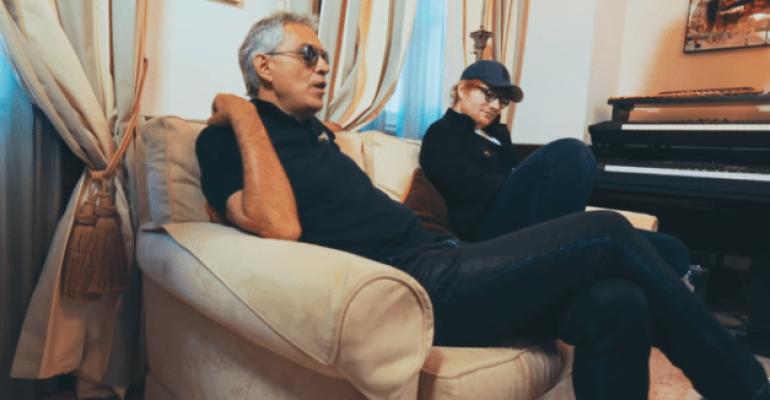 Perfect Simphony, Ed Sheeran duetta con Andrea Bocelli – video