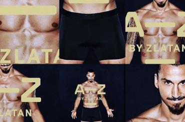 A-Z, Zlatan Ibrahimovic in mutande per la sua collezione d'intimo – foto