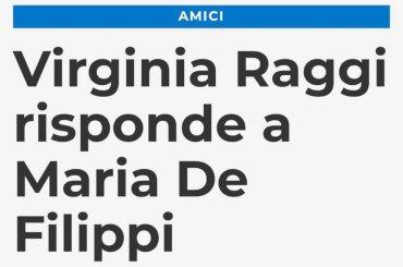 Virginia Raggi risponde a Maria De Filippi: 'i ragazzi di Amici potranno fare i netturbini'