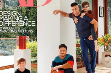 Ricky Martin con i figli e l'amato Jwan Yosef sulla cover di Architectural Digest