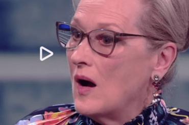 Meryl Streep commossa a Che Tempo che Fa per l'omaggio dal figlio di Anna Magnani – video