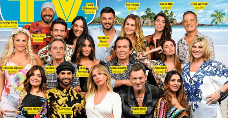 Isola 2018, il cast completo sulla cover di Tv Sorrisi e Canzoni