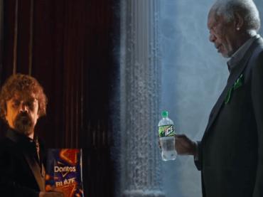 Peter Dinklage e Morgan Freeman, battaglia rap per DORITOS BLAZE vs. MTN DEW ICE | lo spot del Super Bowl