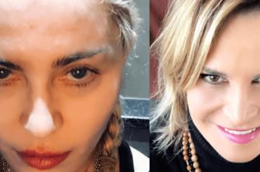 Simona Ventura e Madonna, sfida di selfie INSTAGRAM