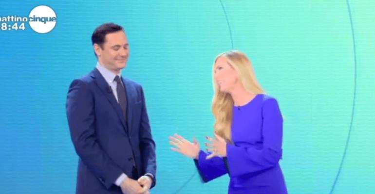 Mattino Cinque,  Federica Panicucci chiede scusa per il fuorionda contro Francesco Vecchi – video