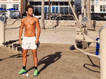 GIANLUCA GINOBLE, allenamento in spiaggia da Miami – le foto Instagram